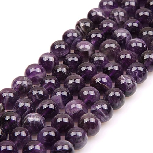 Amethyst Beads for Jewelry Making Natural Gemstone Semi Precious 10mm Round 15