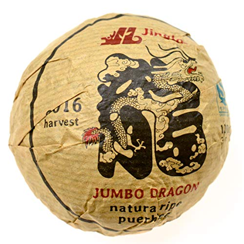 (Ripe Puerh Tea «Jumbo Dragon» (50+ cups), Pu erh tea, Loose Leaf Yunnan Pu-erh tea compressed in Tea Cup shape, Tuocha Shu Puerh Chinese Tea, Post-Fermented Aged Tea, 3.6 ounce\ 100g)