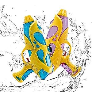 infinitoo Pistola ad Acqua Giocattoli 2 PCS,capacità 200ml,per Estivi Feste all'aperto,Piscina all'aperto,Regali per Bambini,Giochi da Spiaggia 1 spesavip