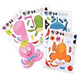 ~ 12 ~ Make-a-Sea Ocean Animal Fish Sticker Sheets ~ New
