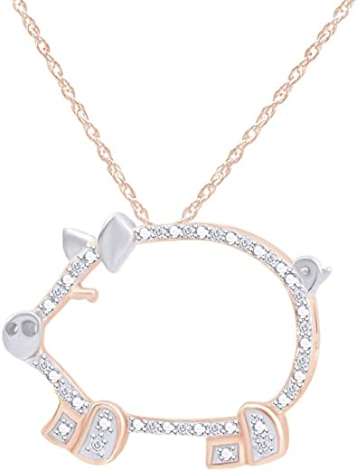 AFFY Jewelry White /& Pink Enamel Pig Stud Earrings In 925 Sterling Silver