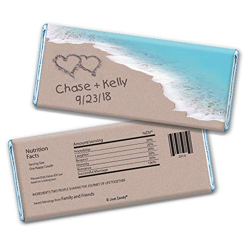 Personalized Wedding Beach Themed Favors Hershey's Chocolate Bar Wrappers Only (25 Wrappers) ()
