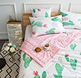 "J-pinno Cartoon Cactus Printed Quilt Comforter Blanket Full for Kids Bedding Coverlet (Full 78"" X 90"", 9)"