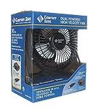 Comfort Zone 4' Dual Powered High Velocity Fan (Black)
