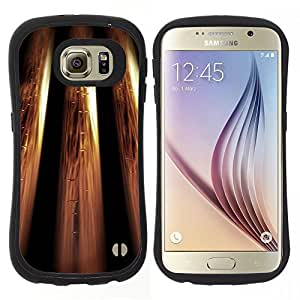 """Pulsar iFace Series Tpu silicona Carcasa Funda Case para Samsung Galaxy S6 , Metálico Bling Diseño Wallpaper de Oro"""""""