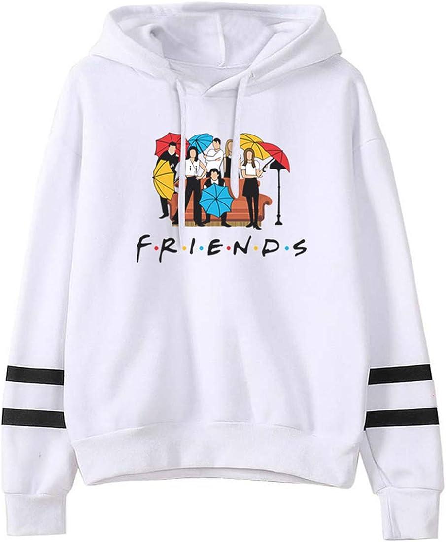 FLYCHEN Felpa Friends TV Show Logo con Cappuccio per Uomo Felpa Amicizia Serie TV Americano Fans Funny Hoodie Coppia Top