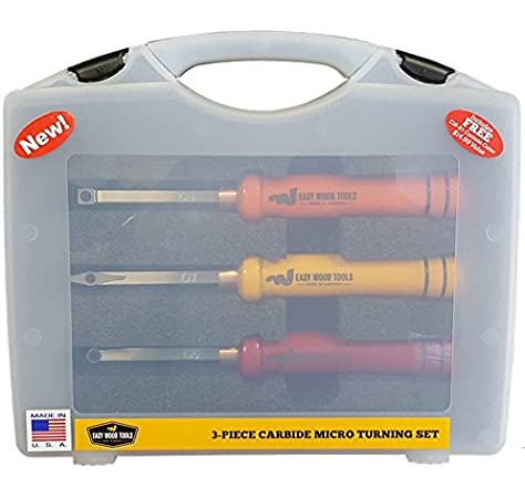 Easy Wood Tools Set of 3 Full-Size Lathe Turning Tools