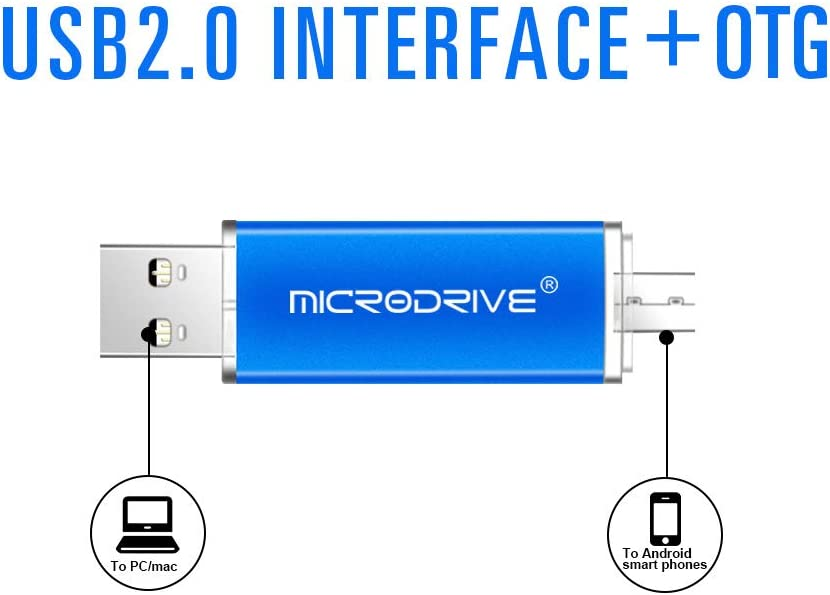 LJ1 Micro USB Flash Drive 2 in 1 OTG Dual Flash Drive USB 2.0 4GB,8GB,16GB,32GB,64GB,128GB External USB Flashdrive Memory Sticks