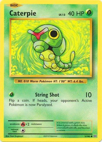 Pokemon - Caterpie (3/108) - XY Evolutions