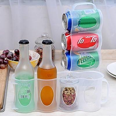 4 casos cajas latas de almacenamiento frigorífico botellas ...