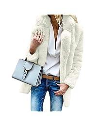 Women Winter Coat Keep Warm Outerwear Loose Big Collar Fur