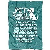 TUCSTORE Pet Groomers Soft Fleece Throw Blanket, Dog Groomers Blanket for Bed and Couch (Large Fleece Blanket (80''x60'') - Green Pistachio)