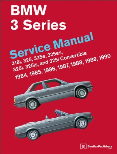 BMW 3 Series Service Manual 1984-1990 by Bentley Publishers (2010-11-01)