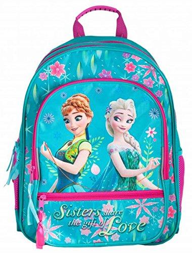 Frozen Mochila Escolar pequeño Anna y Elsa con seis compartimentos: Amazon.es: Oficina y papelería