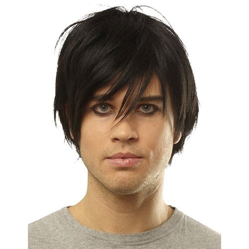 Costume Culture Men's Emo Wig, Black, One Size Emo Hair
