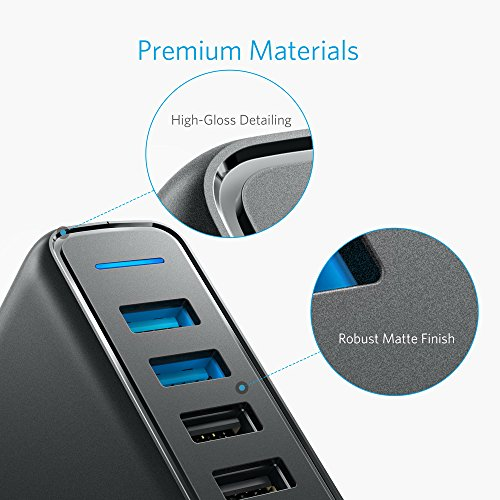 Anker Quick Charge 3.0 63W 5-Port USB Wall Charger, PowerPort Speed 5 Galaxy S9 / S8 / S7 / S6 / Edge / +, Note 5/4 PowerIQ iPhone X / 8/7 / 6s / Plus, iPad, LG, Nexus, HTC More by Dr.fasting (Image #8)