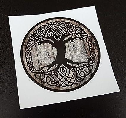 prix compétitif 47be7 c4783 Vinyl Stickers Viking Yggdrasil Tree of Life (Diameter 3.5