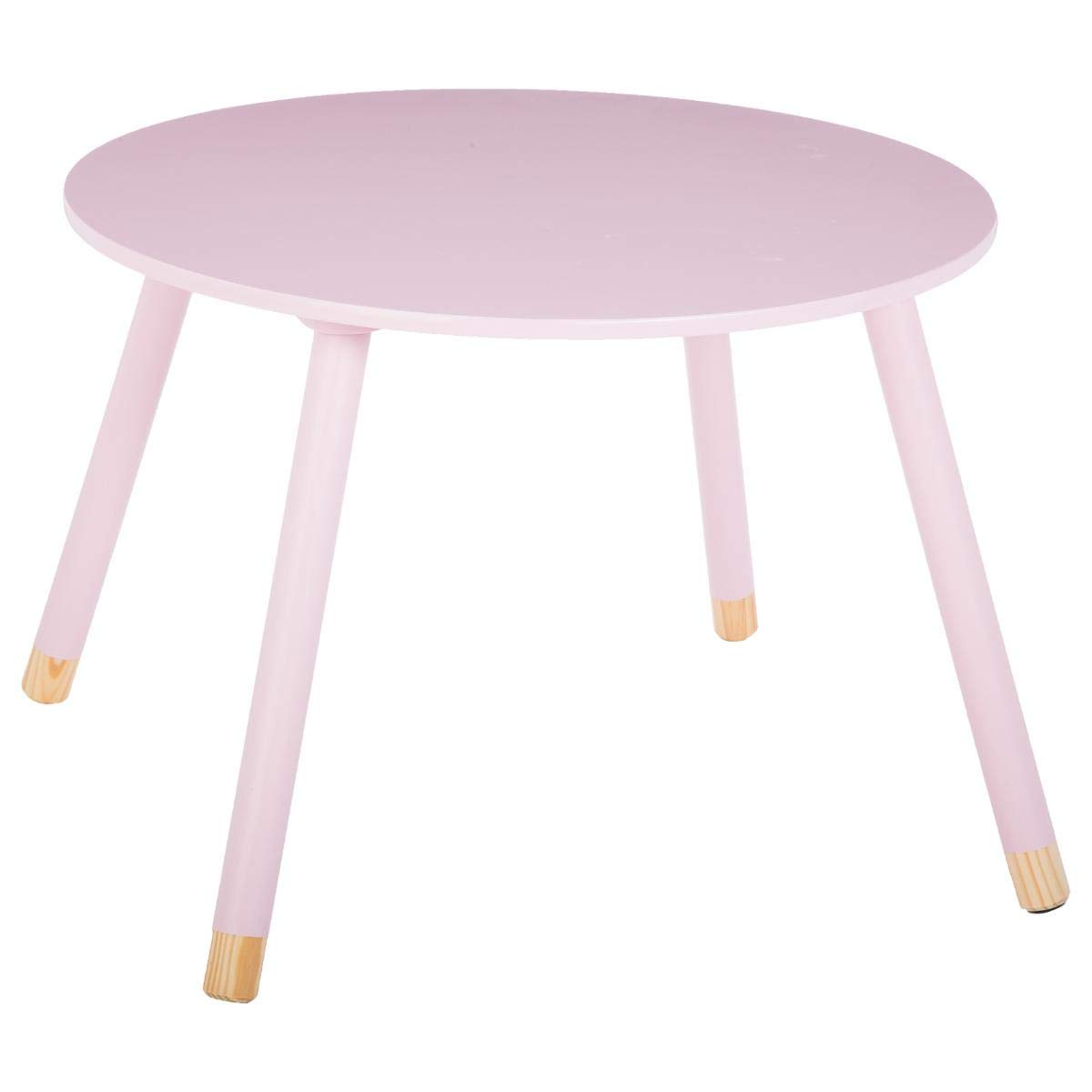 Atmosphera Wooden round table for children - Colour PINK