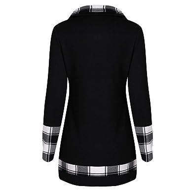 8c8f5c607a Amazon.com  DIMANUL Fashion Womens T-Shirt Long Sleeve Plaid Turtleneck  Tartan Tunic Sweatshirt Pullover Ladies Casual Tops  Clothing