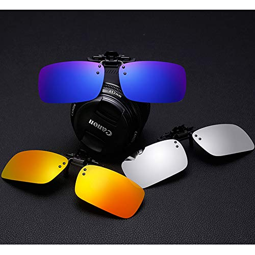 Clip-on Sunglasses 2 Pack Polarized Lens Unisex Frameless With Metal Flip Up For Driving, Outdoor Sports & Holidays (BLACK + GREEN BLUE)