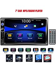 """Car Stereo Double Din Radio, Regetek 7"""" Touchscreen in Dash Bluetooth Mp3 Audio 1080P Video Player FM AM Radio + Remote Control + Support TF/USB/AUX-in/Subwoofer/Steering Wheel"""