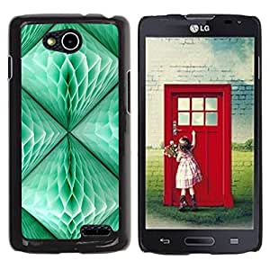 Be Good Phone Accessory // Dura Cáscara cubierta Protectora Caso Carcasa Funda de Protección para LG OPTIMUS L90 / D415 // Lantern Teal Green 3D Art Polygon