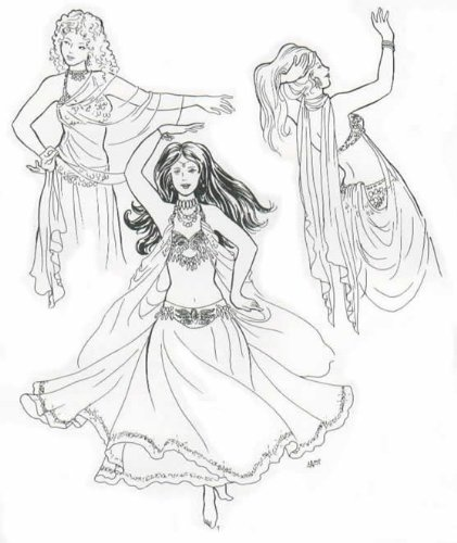 Belly Dance Costumes Sewing Patterns (Sirane's Skirts and Salome's Veils Pattern (Belly Dance))