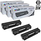 LD © Compatible Replacements for Hewlett Packard CE278A (HP 78A) Set of 3 Black Laser Toner Cartridges for use in HP LaserJet P1566, Pro M1536dnf, and Pro P1606dn Printers