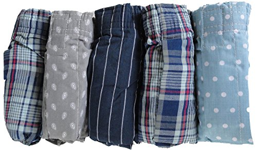 Cotton Plaid Boxers (Gildan Premium Cotton Plaid Boxers (5 pack) (Medium (32-34)))
