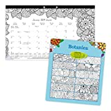 Blueline 2019 Colouring Monthly Desk Pad. Botanica Design. Bilingual. 17-3/4 x 10-7/8 (C2917001B-2019)