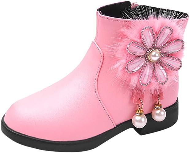 HoSaylike Chaussures Enfant Fille Bottes de Neige
