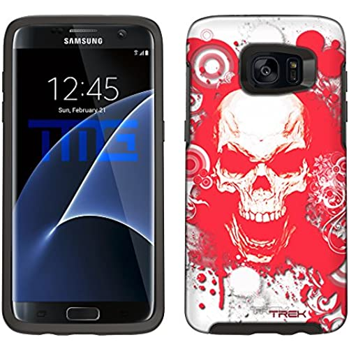 Skin Decal for Otterbox Symmetry Samsung Galaxy S7 Edge Case - Red Skull on White Sales