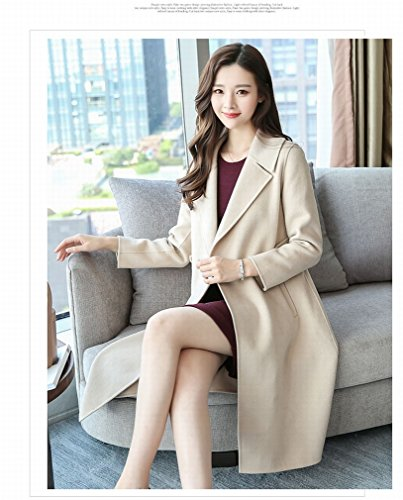 Cultivation Sided of Self Jacket white Milky Autumn Coat Coat Section Cashmere Double Fashion in Style Winter the Coat and WYF Long Coat gwPqz8x0