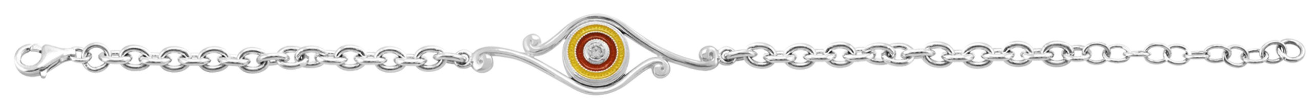Kameleon Jewelry Sterling Silver Bracelet With Scroll KBR17