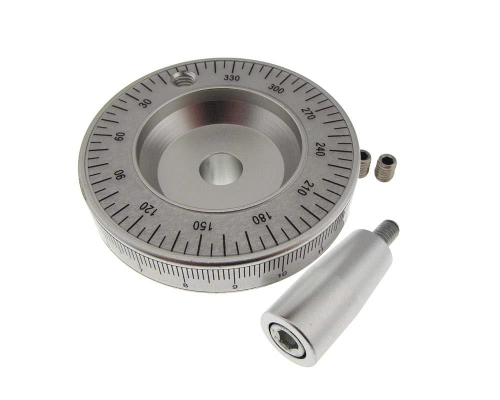 HQ 63mm Solid Aluminum Handwheel Hand w/ Scale for CNC milling sil Shaft: 10mm