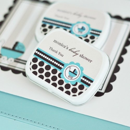 (Personalized Mint Tins - Blue Baby - Total 24 items)