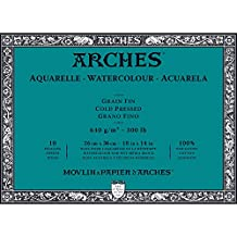 """Arches Water Colour Block, 300 lb / 640GSM, Cold Pressed, 10"""" x 14"""""""