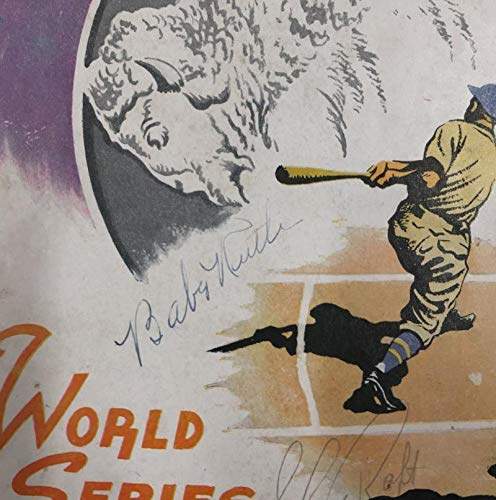 Babe Ruth Signed 1936 World Series Program. Yankees Vs Giants. JSA LOA