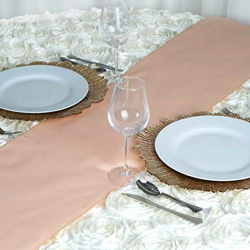 Mikash 12 x 108 Polyester Table Runner Wedding Party Dinner Table Supply Decorations | Model WDDNGDCRTN - 2470 | 6 pcs -