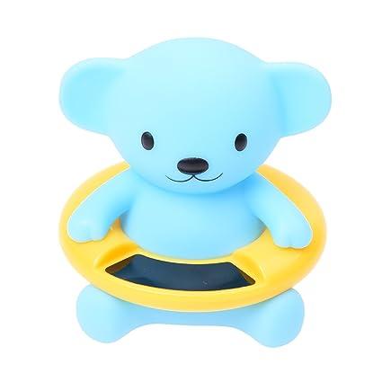 SODIAL(R) Termometro flotador de seguridad infantil para bebes Medidor de temperatura del agua
