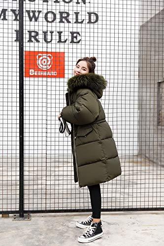 con con Donna Invernale Lungo Cappotto 1 Esercito Giubbotto La Donna Donna Donna Giacca vogue Pelliccia Cappuccio Verde Imbottita wpEBtq
