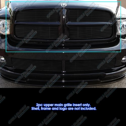 APS Compatible with 2002-2005 Dodge Ram Black Billet Grille Grill Insert S18-H47358D