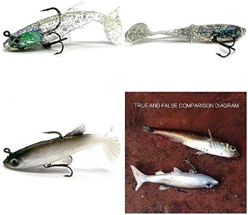 zreal 4/unidades nuevo entrada 8/cm 14/g se/ñuelo suave plomo Cabeza Mar Pescado Se/ñuelos de Pesca affilati Sharp Treble Hook T Tail
