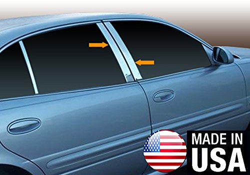 (Made in USA! Works With 00-05 Buick Le Sabre 4 PC Stainless Steel Chrome Pillar Post Trim)