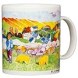 Paul Gaugin - The Swineherd Brittany - 14oz Coffee Mug