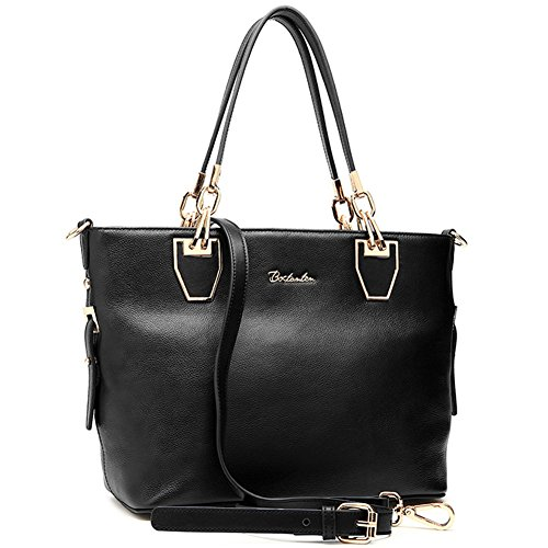 BOSTANTEN Leather Women Genuine Handbag 11 Crossbody Bags Purses shoulder balck Tote for HpFHrwnx