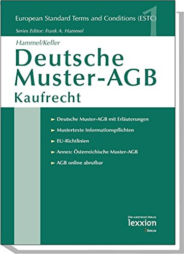 buy deutsche muster agb kaufrecht european standard terms and conditions book online at low prices in india deutsche muster agb kaufrecht european - Agb Muster