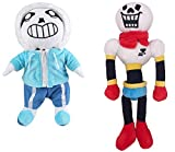 2 pack Undertale Sans Papyrus Plush Figure Toy Stuffed Toy Doll
