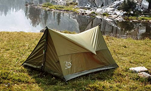 (River Country Products Trekker Tent 2, Trekking Pole Tent, Ultralight Backpacking Tent - Green )