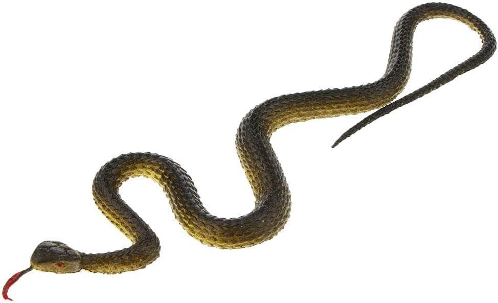 Fityle 5pcs Realistic Rubber Snake Toy Mischief Prop Gag Prank Joke Halloween Trick